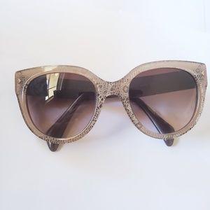 PRADA Taupe Brown SPR 170 Sunglasses